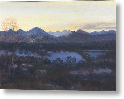 Nocturne On The Front Range Of Colorado Metal Print by Diane Edwards