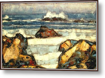 Metal Print featuring the painting Noise Of The Waves by Pemaro