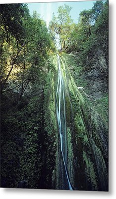 Metal Print featuring the photograph Nojoqui Falls by Gary Brandes