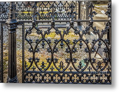 Nola Craftsmanship - Wrought And Cast Iron Fence Metal Print