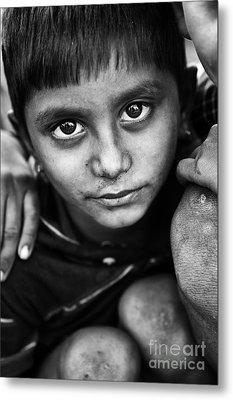 Nomadic Rajasthan Boy Metal Print by Tim Gainey