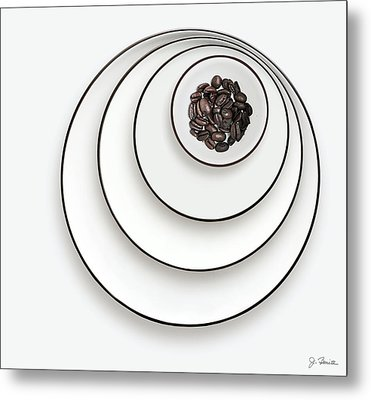 Metal Print featuring the photograph Nonconcentric Dishware And Coffee by Joe Bonita