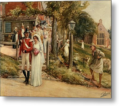 None But The Brave Deserve The Fair Metal Print by James Shaw Crompton