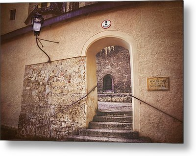 Metal Print featuring the photograph Nonnberg Abbey In Salzburg Austria  by Carol Japp