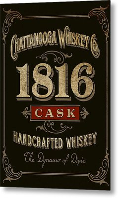 Metal Print featuring the digital art Nooga Whiskey by Greg Sharpe