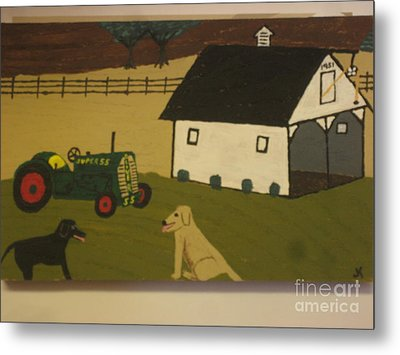 Metal Print featuring the painting Nook And Brutus by Jeffrey Koss