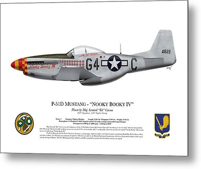 Nooky Booky I V - P-51 D Mustang Metal Print by Ed Jackson