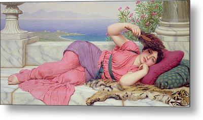 Noon Day Rest Metal Print by John William Godward