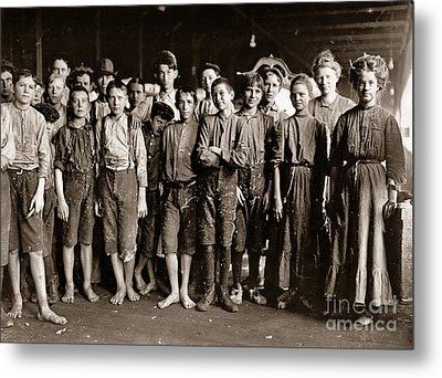 Noon Hour Workers In Enterprise Cotton Mill Metal Print
