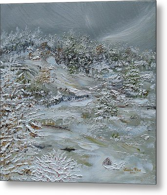 Metal Print featuring the painting Nor'easter by Judith Rhue