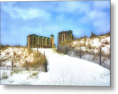 Metal Print featuring the photograph Norriego Point Sand Dunes by Mel Steinhauer