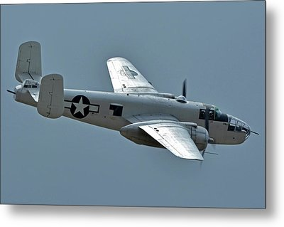 North American B-25j Mitchell N3675g Photo Fanny Chino California April 30 2016 Metal Print by Brian Lockett