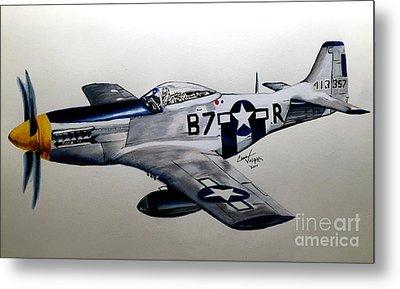 North American P-51 Mustang Metal Print by Chris Volpe