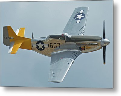 Metal Print featuring the photograph North American P-51d Mustang Nl5441v Dolly/spam Can Chino California April 30 2016 by Brian Lockett
