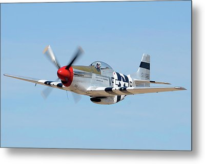North American P-51d Mustang Nl5441v Spam Can Valle Arizona June 25 2011 1 Metal Print by Brian Lockett