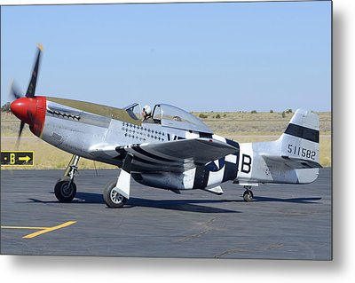 North American P-51d Mustang Nl5441v Spam Can Valle Arizona June 25 2011 3 Metal Print by Brian Lockett