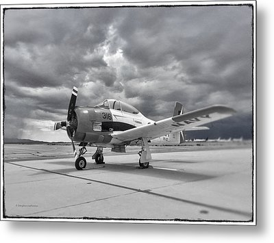 North American T-28 Metal Print by Douglas Castleman