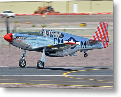 Metal Print featuring the photograph North American Tp-51c-10 Mustang Nl251mx Betty Jane Deer Valley Arizona April 13 2016 by Brian Lockett