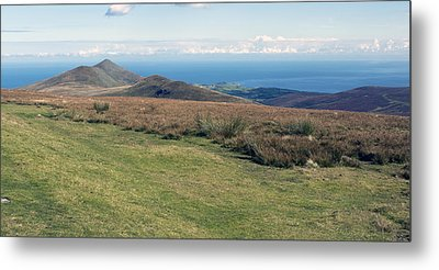North Barrule And Maughold Head Metal Print by Steve Watson