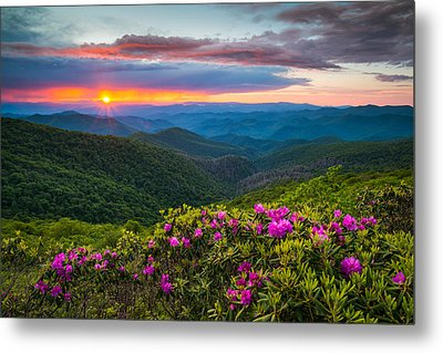 North Carolina Blue Ridge Parkway Landscape Craggy Gardens Nc Metal Print