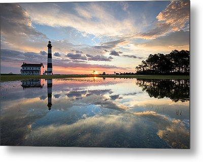 North Carolina Bodie Island Lighthouse Sunrise Metal Print by Mark VanDyke
