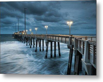 North Carolina Fishing Pier Outer Banks Metal Print by Mark VanDyke