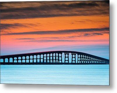 North Carolina Outer Banks Herbert C. Bonner Oregon Inlet Bridge Metal Print by Mark VanDyke