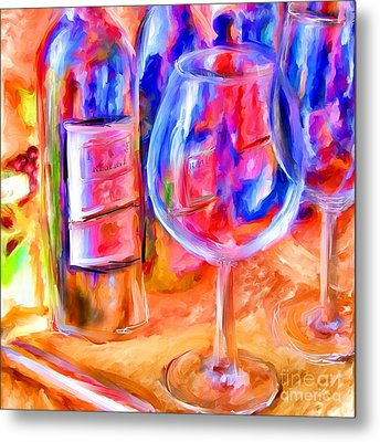 North Carolina Wine Metal Print