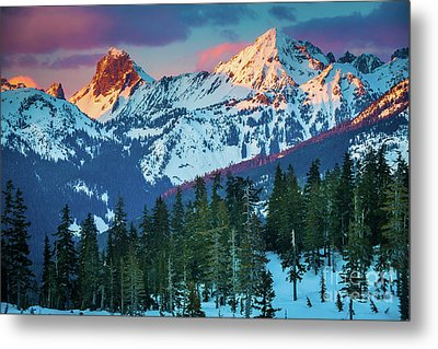 North Cascades Sunset Metal Print by Inge Johnsson