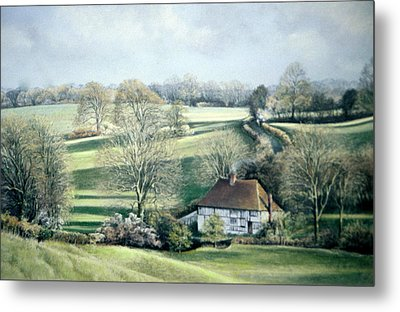 North Downs Hideaway Metal Print