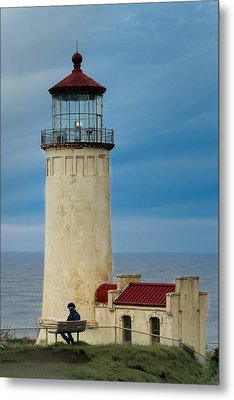 Metal Print featuring the photograph North Head Lighthouse by E Faithe Lester