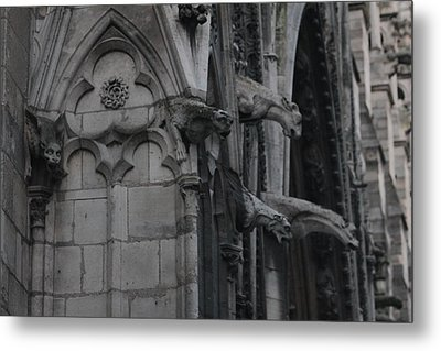 Metal Print featuring the photograph North Side Notre Dame Cathedral by Christopher Kirby