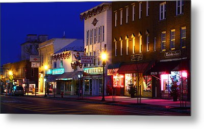 Metal Print featuring the photograph North Side Of East End Of Main Street by Don Nieman