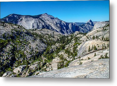 North Side Of Half Dome Valley Metal Print by Brian Williamson