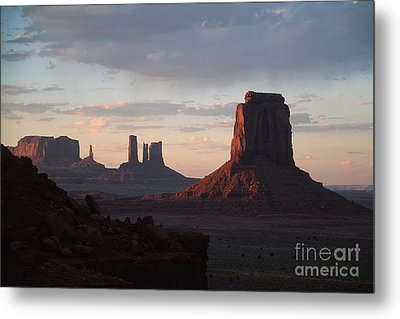 North Window At Sunset Metal Print by Stan and Anne Foster