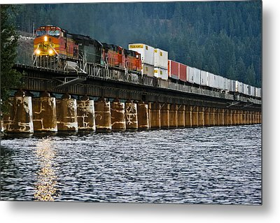 Northbound At Dusk Metal Print by Albert Seger