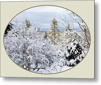 northeast USA photography button Metal Print