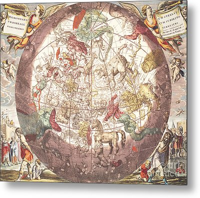 Northern Boreal Hemisphere, From The Celestial Atlas Metal Print by Andreas Cellarius