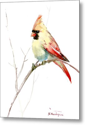 Northern Cardinal,female Metal Print