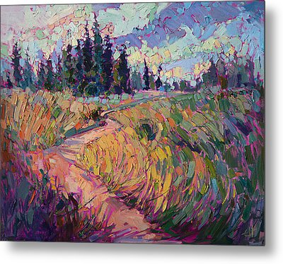 Northern Firs Metal Print by Erin Hanson
