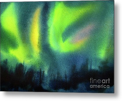 Metal Print featuring the painting Northern Lights 3 by Kathy Braud