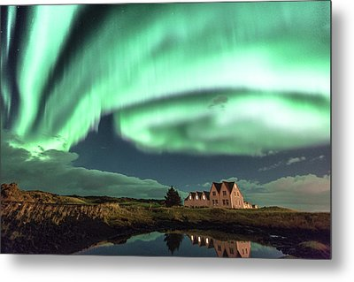Metal Print featuring the photograph Northern Lights by Frodi Brinks