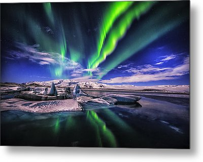 Northern Lights Metal Print by Johannes Frank