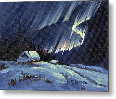 Northern Lights Metal Print by Kurt Jacobson