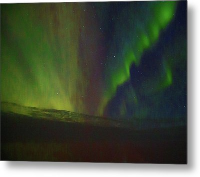 Northern Lights Or Auora Borealis Metal Print