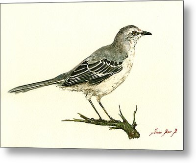 Northern Mockingbird Metal Print by Juan  Bosco