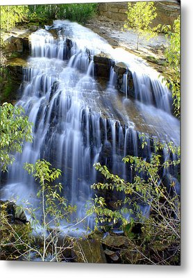 Northfork Falls Metal Print by Marty Koch