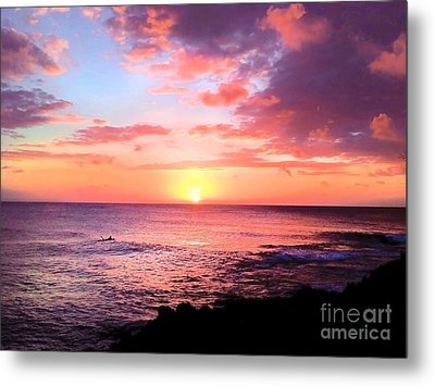 Northshore Sunset Metal Print by Kristine Merc