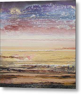Northumberland Beach Low Tide 2009 Metal Print by Mike   Bell