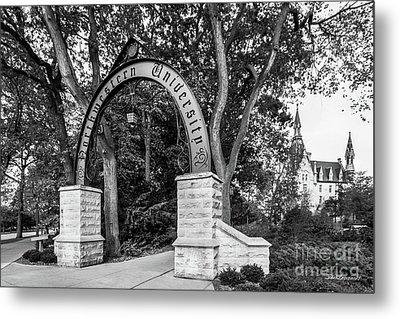 Northwestern University The Arch Metal Print